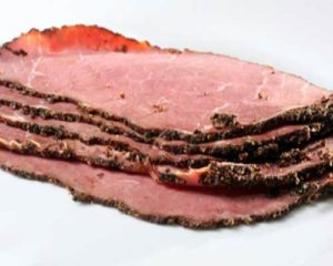 Brewery on the Beach Pastrami Open Sandwich